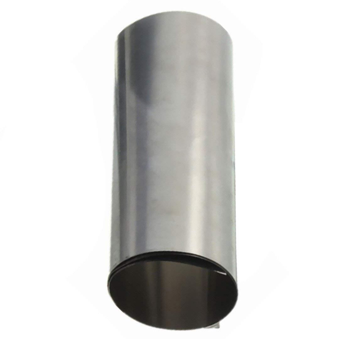 Silver Stainless Steel Fine Plate Sheet Foil 0.1x100x1000mm