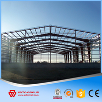 Long life Using Large Span Steel Structure Building Materials Prefab Metal Warehouse Pre-engineered Design Factory Supply