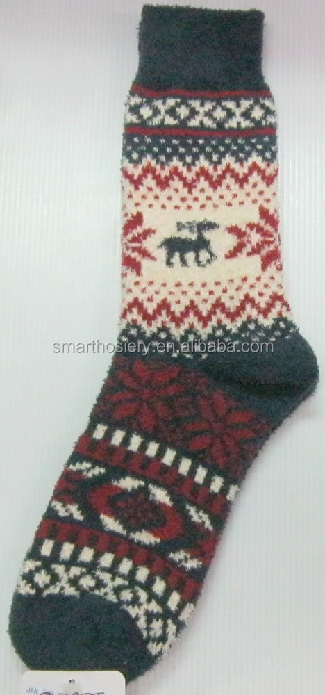 Classic Fairisle Men Fuzzy Socks - Buy Warm Fuzzy Socks,Fuzzy ...