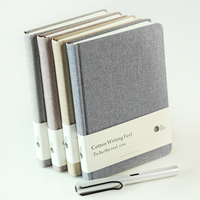 N674 Stationery fabric cloth cover notebook,fabric a5 a6 notebook,denim fabric notebook