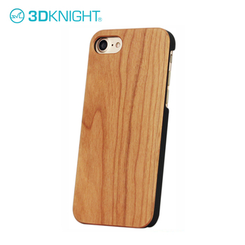 Cherry Wood wooden cell case with printing wood texture case for iphone 7