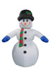 360cm/12ft inflatable snowman with hat and scarf for christmas decoration