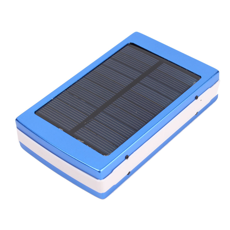 Portable Dual USB Solar Panel Power Bank 6000mAh External Battery Carregador De Bateria Charger With LED for Phone #70163