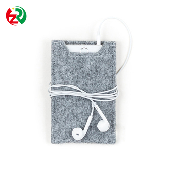 d5fdeeee3f44 Alibaba China market popular trend felt mobile phone case,logo customized  cell phone pouch