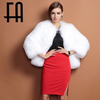 2015 Fa Real White Fox Fur Coat Short And Winter Style For Women ...