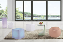 shining funny living room furniture LED square stools Ottomans