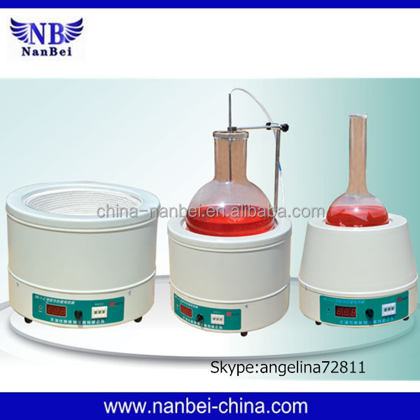 Electric digital display heating mantle with magnetic stirrer