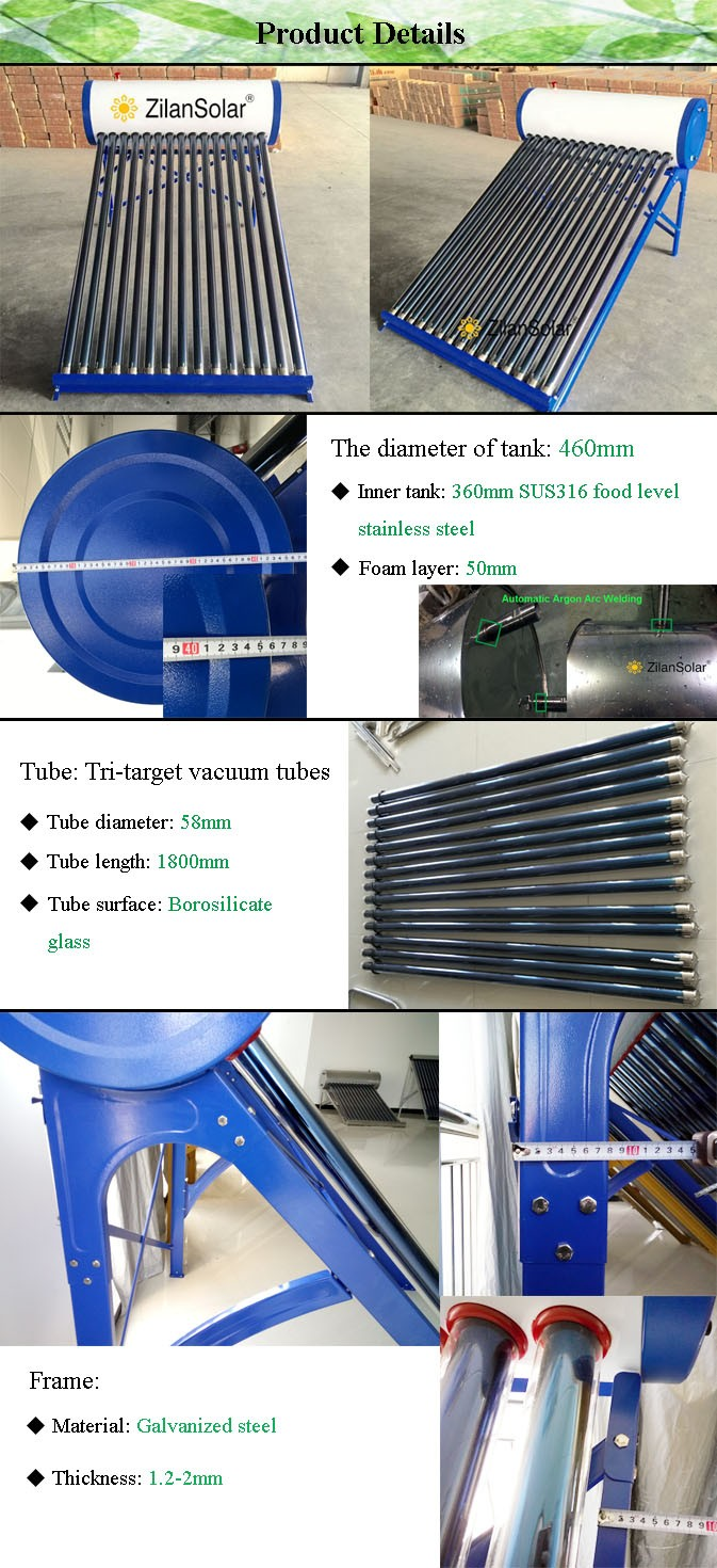 China Supplier Sun Solar Water Heater Solar Home System