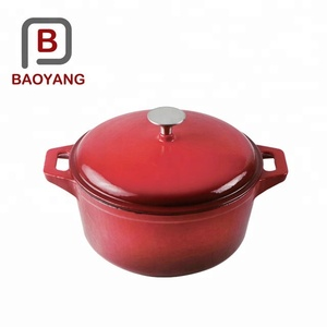 Customized enamel coated cast iron cookware set