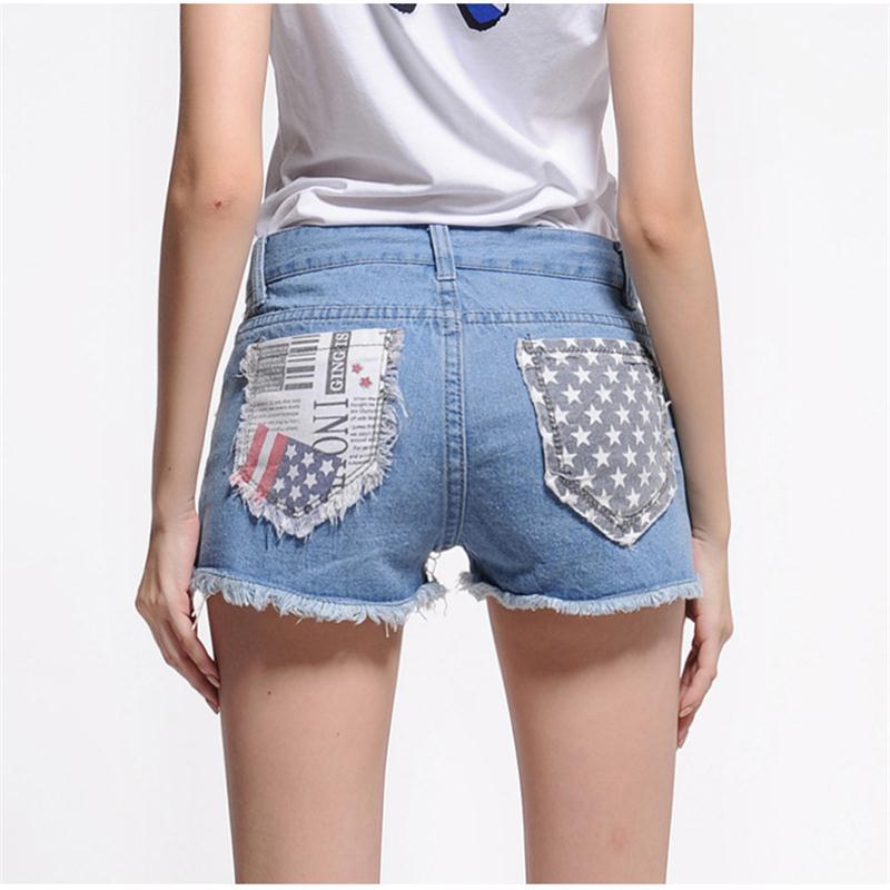 ed8c328436 Get Quotations · Hot Sale 2015 New Fashion Women shorts Jeans Sexy Hole Destroyed  Shorts Jeans Plus Size Mid