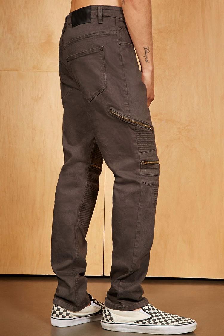 176f507e75 Royal Lobo Denim Jeans Fabricante Cremallera Rodilla Biker Jeans ...