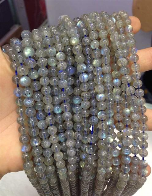 """Natural 8mm Grey Labradorite Round Gemstone Loose Beads 15/"""" AAA+"""