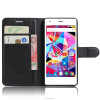 universal flip leather case for Archos Diamond S wallet cover