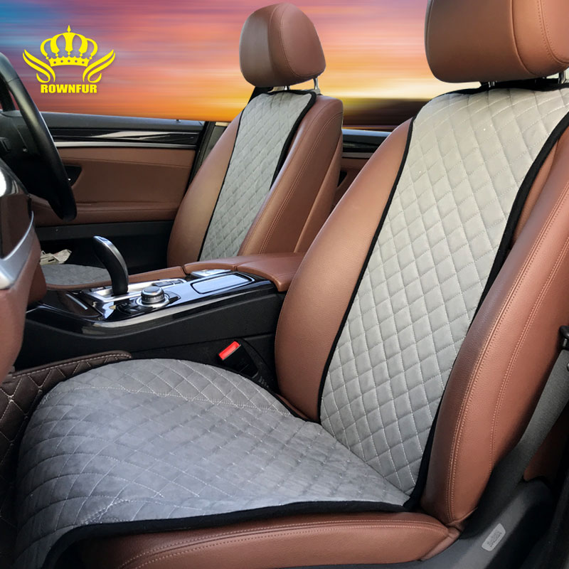 waterproof Double-Stitching car seat protector universal colorful hot sale comfortable and soft suede car seat cushion cover