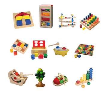 Best Selling Wholesale Kindergarten Early Learning Wood Toys For Kids Educational Montessori Material