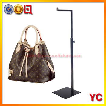 Chrome Finish Metal Handbags Display Stand Rack For Women S Bag