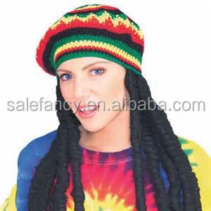 Sombrero Jamaica Punto Rasta Sombrero Con Dreadlocks Qhat-5950 - Buy ... 95d3ad26b01