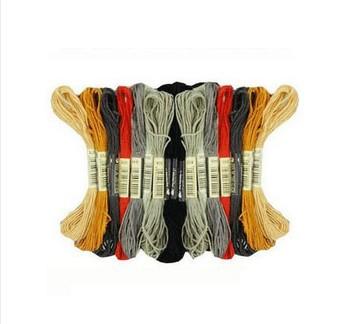 Wholesale 8m six strands dmc code thread/floss 1Set=447 kinds of ...