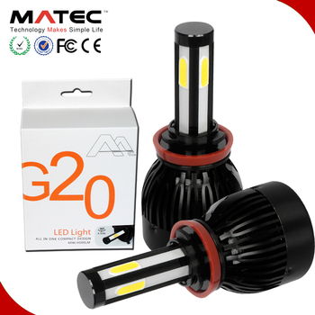 Highest Power Led Headlights Bulb 80w 8000lm 12v G20 G5 Car Led Front Lamp  H3 H4 H8 H9 H10 Hb3 Hb4 H15 H16 Replace Hid&halogen - Buy Power Led