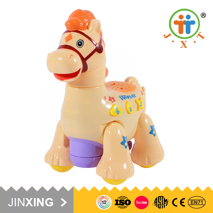 New goods educational children animal plastic horse toy with sound