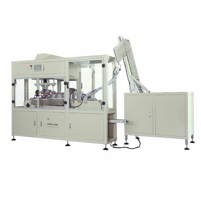 CAP44 automatic cap pad printing machine, auto cap pad printer
