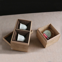 Custom Christmas gift storage packaging box wooden tea up packing box for chinese factory