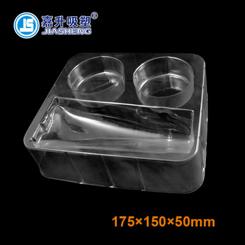 Wholesale price vacuum formed plastic cosmetic blister insert packaging tray