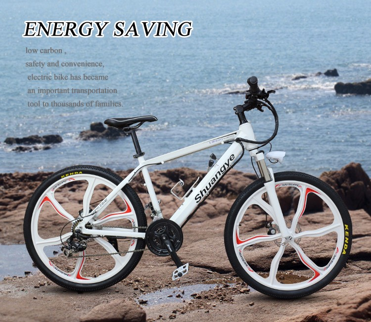 Newly pushing 36V hidden battery full suspension mountain electric bike