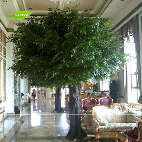 GNW BTR047 Indoor Banyan Trees Big Artificial Green Tree For Home Garden  Decoration