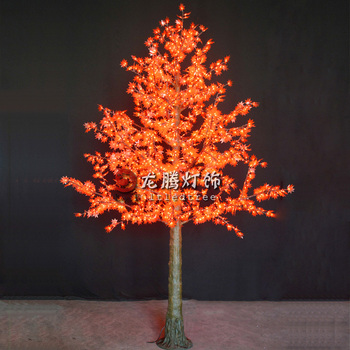 light up maple cone shapes outdoor led christmas tree light