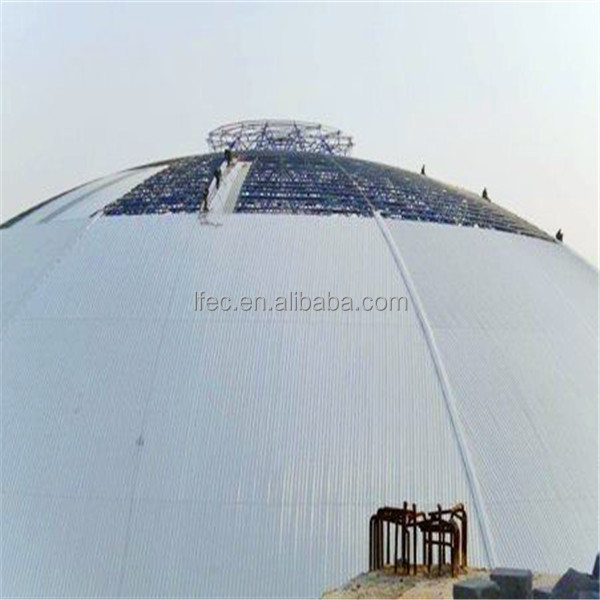 High quality prefabricated dome coal storage shed steel structure building