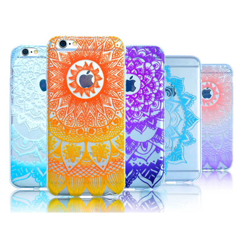 2017 oem smartphone mandala flower soft tpu case for iPhone 6,mobile phone accessories