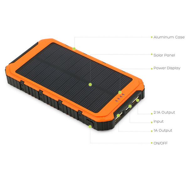 Universal Smart portable charger solar power bank 50000mAh