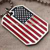 United Sates flag old glory mens dog tag