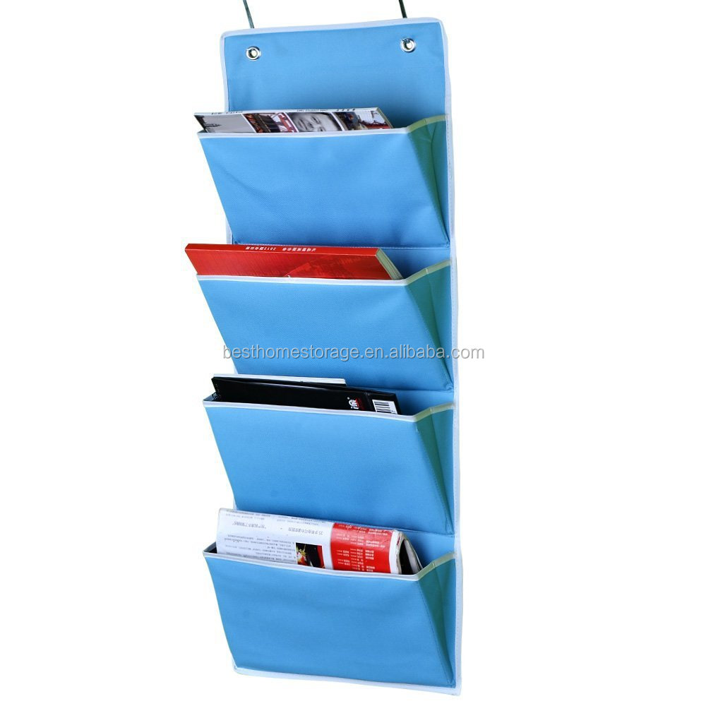 Wall Hanging Mail File Paper 3 Shelf Fabric Organizer Home