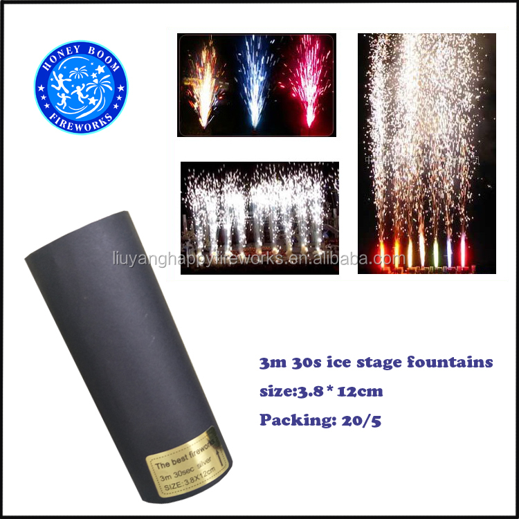 High quality smokeless and odorless indoor China wholesale fireworks Cold Stage pyro ice stage fountains