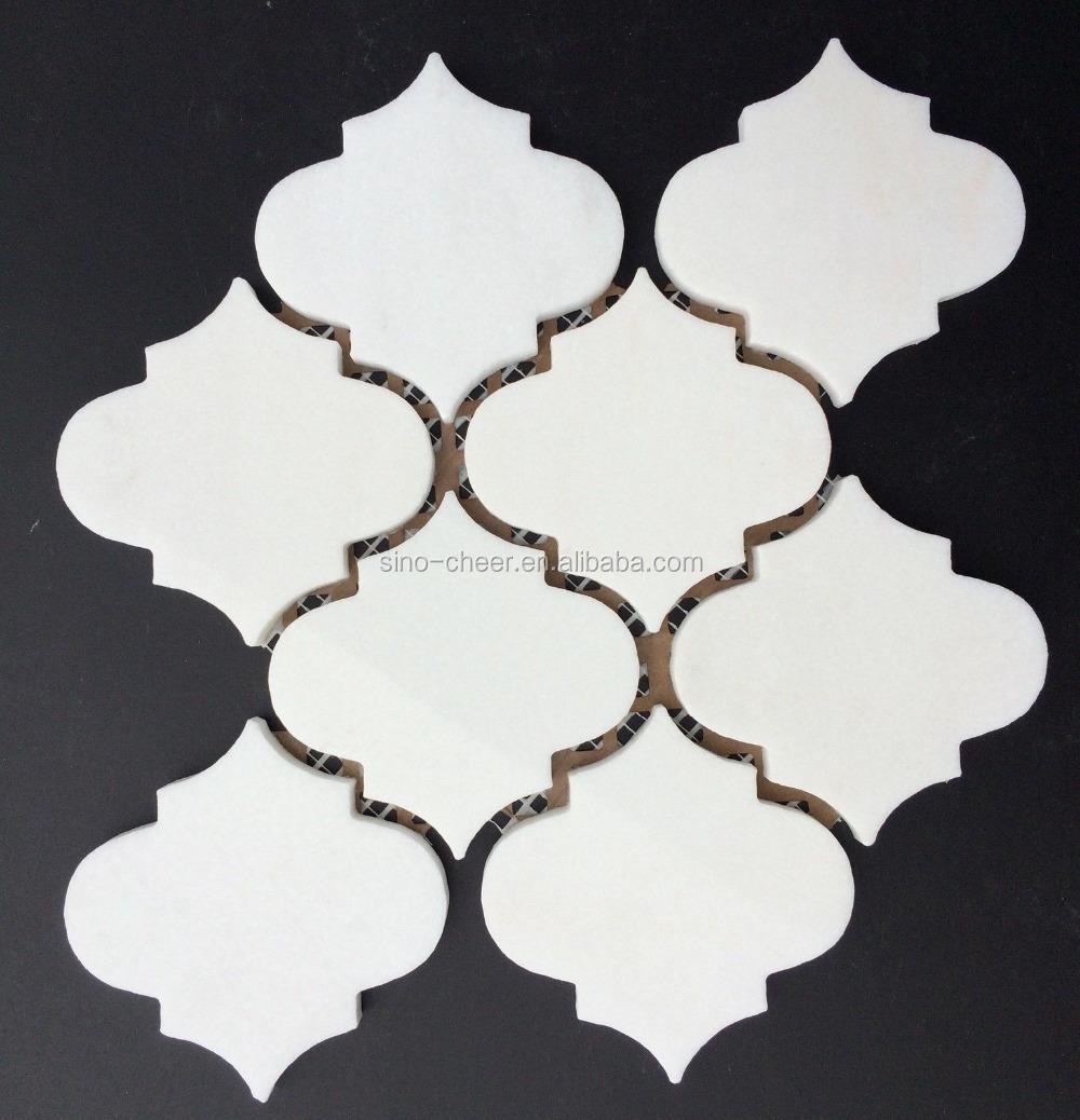 Goede Lantaarn Crystal Thassos Wit Gepolijst Marokkaanse Mozaïek Tegel JD-71