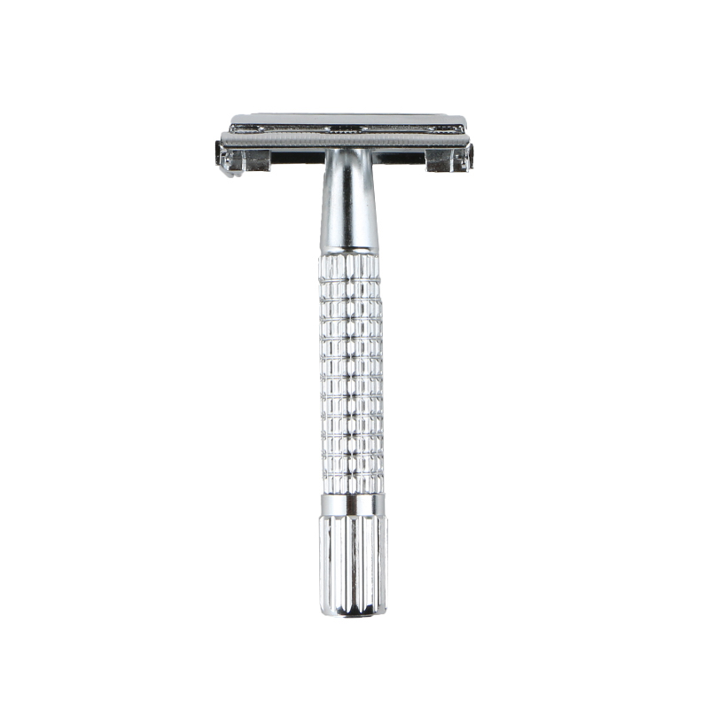 D666 plated Iron Butterfly open safety razor twist to open razor double edge blade razor