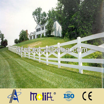 China Afol Pvc White Fence PostTemporary Palisade Fencing Designs
