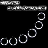 CCFL Halo Rings LED Angel Eyes Auto Car Angel Eye For Alfa Romeo 159 2005-2011