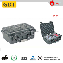 Waterproof hard plastic tool case hard plastic carrying case