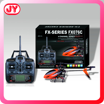 2.4 Gam 4CH flybarless long range rc helicopter với gyro