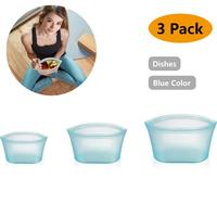 FDA Reusable Silicone Food Storage Bag Sandwich Snack Sous Vide Zipper Freezer Sealed Bag Cup Fridge Food Frozen