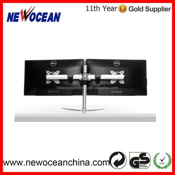 Ergonomic Steel Dual Lcd Vesa Monitor Screen Desk Mount