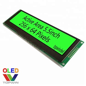 5.5'' 5.5inch 5.5 inch 256x64 pixels green color 16 gray scales oled module SSD1322 TW56640560A01 SPI parallel with pcb board