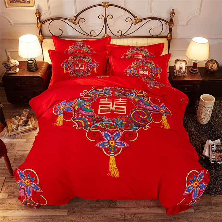 Chinese suppliers Wedding luxury 100% Cotton Bedding <strong>set</strong>