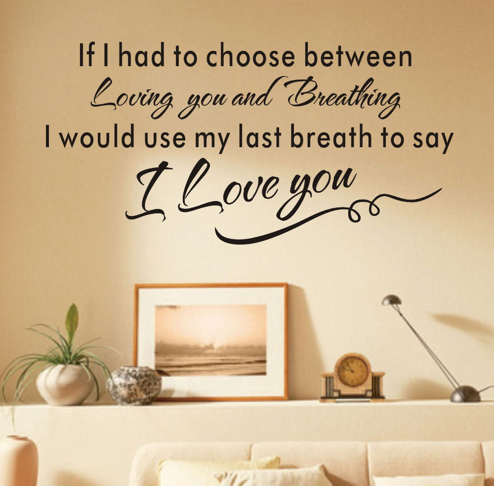 Aliexpress.com : Buy Love Wall Art Letters Wallpaper