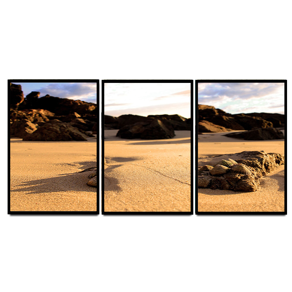 HD Print 3 Panel Sunset Beach Seascape <strong>Picture</strong> Canvas Painting Wall Art Modern Home Decor