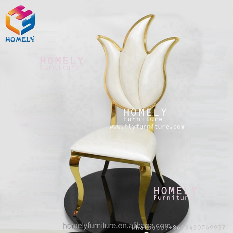 new design modern hotel hall banquet wedding feast party rose gold white wholesale chair stainless steel