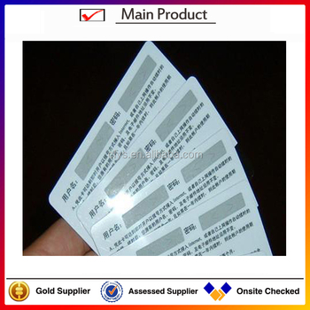 High Quality And Good Price Scratch Off Recharge Card Printing Buy